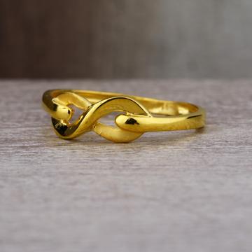 Ladies 22K Gold Infinity Design Ring -LPR41