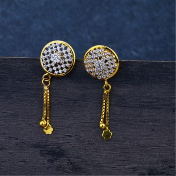 Ladies 916 Gold Diamond Jummar Earrings -LJE95