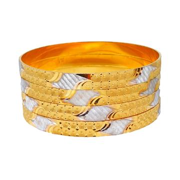 1 Gram Gold Forming Designer Bangles MGA - BGE0452