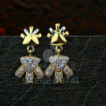 18kt Cz Designer Gold Ladies Tops ATG -0565