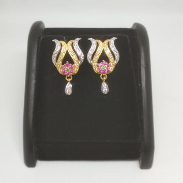 22K Gold Fancy Earring. NJ-0905