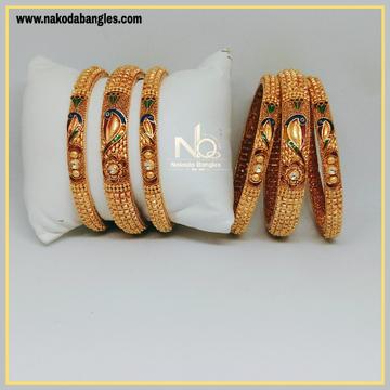 916 Gold Patla Bangles NB-302