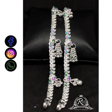 silver antiq baccha payal RH-BP466