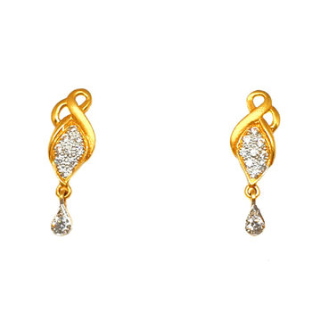 22K Gold Modern Earrings MGA - BTG0358