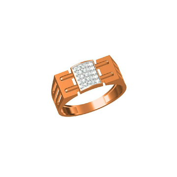 18Kt Rose Gold Simple Daily Wear Men's Ring-31322