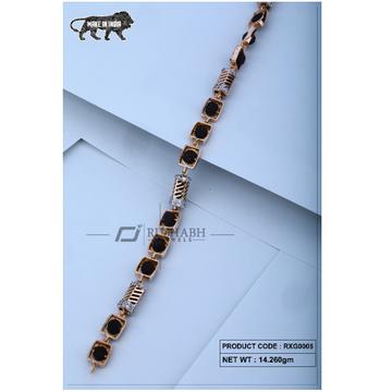 18 carat Rose gold rudraksh gents bracelet rxg0005 by