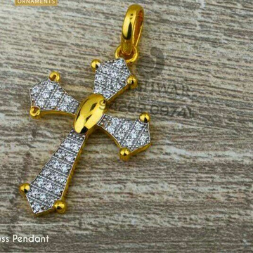 916 Exclusive Cz Gold Cross Pendant