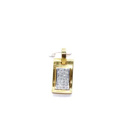 22KT / 916 Gold Square Plain Pendant For men PNG01... by