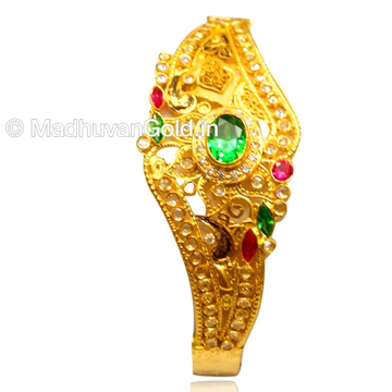 22kt gold designer kada bangle mga - gp082