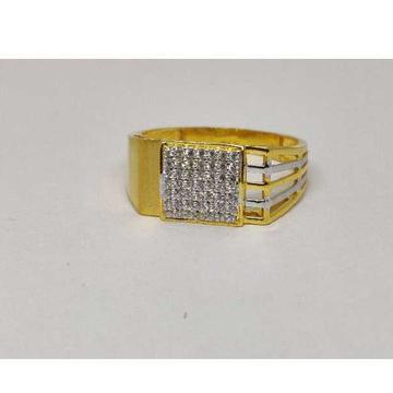 22k Gents Fancy Gold Ring Gr-28558