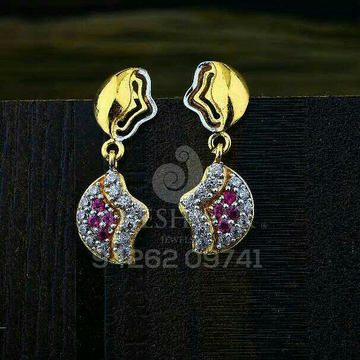 18kt Color Stone Cz Gold Ladies Tops ATG -0743