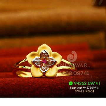 Flower Design Cz Ladies Ring LRG -0200