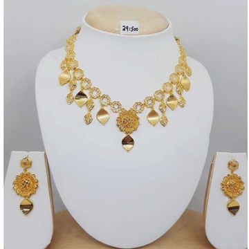 22kt gold antique bridal necklace set bj-n05