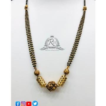 22 carat gold designs at best ladies mangal sutra RH-MN197