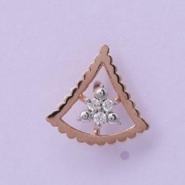 18 carat gold real daimonds ladies earrings RH-LE953