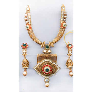 916 Gold Indian Tribal Necklace Set