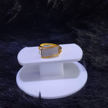 22KT/916 Yellow Gold Unfading Cz Stone Fancy Ring For Men