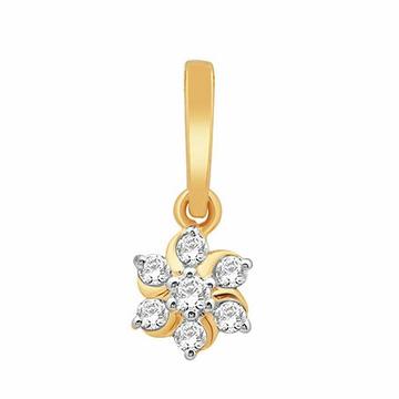 18k gold real diamond pendant mga - rp0031
