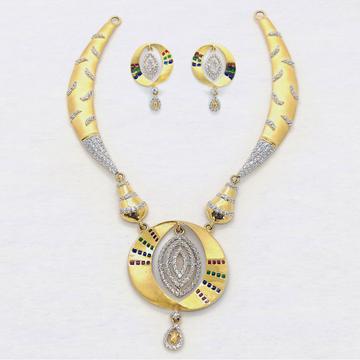 22KT CZ Gold Necklace Set SK-N012 by