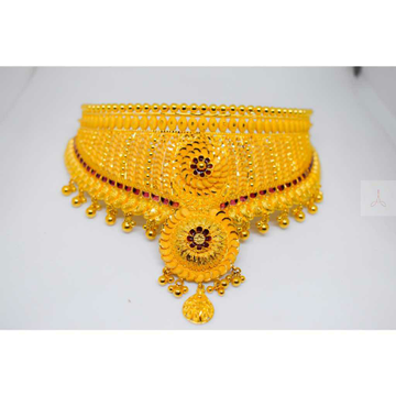 916 gold simple chokar set