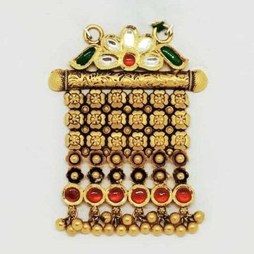 22 KT Gold Rajwadi Pendant by