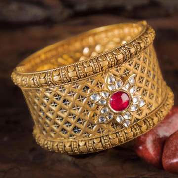 916 gold  Singal Balaiya  Bangles RH-BB01