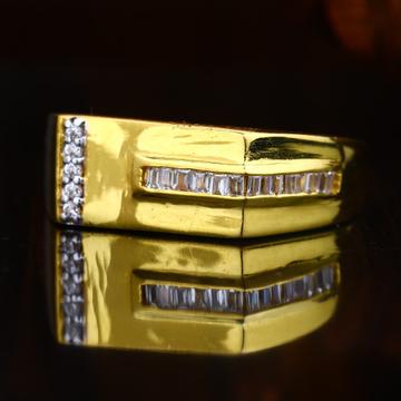916 CZ Gold Sober Design For men's  Ring