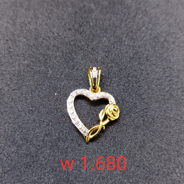 18 kt cz gold pendant by