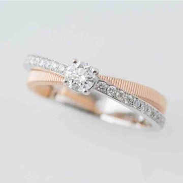18KT Rose Gold Diamond Solitaire Ring