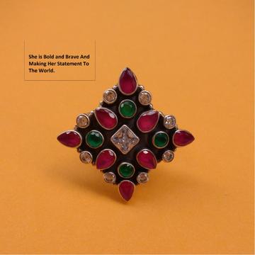 Puran antique sterling silver compass star cutston...