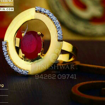 Color Stone Cz Fancy Ladies Ring LRG -0418