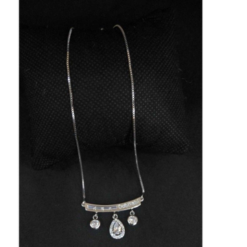 925 Sterling Silver Diamond Pendant Chain by