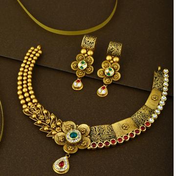 916 Gold Kundan Necklace Set
