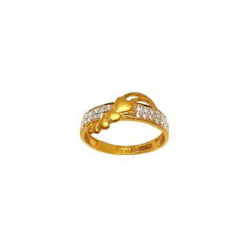 22K Gold Heart Shaped Matte Finish Modern Ring MGA - LRG1121