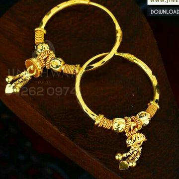 18kt Plain Gold Latakn Fancy Ladies Kadi