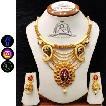 22 carat gold latest ladies necklace set RH-LS506