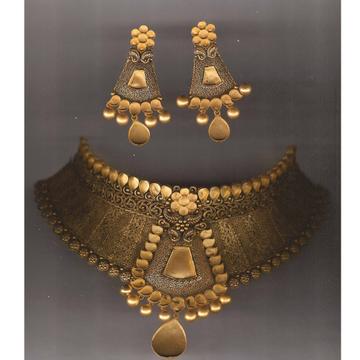 916 Gold Antique Khokha Necklace Set PJ-N001