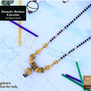 916 Gold Antique Micro Mangalsutra AMG-0065