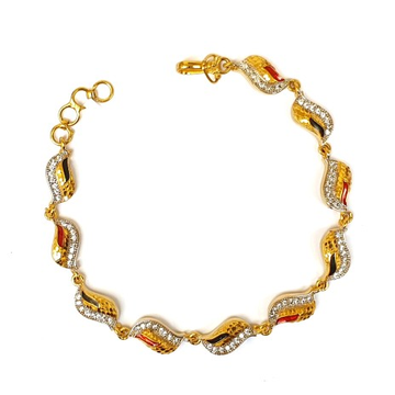 1 gram gold forming bracelet mga - bre0044