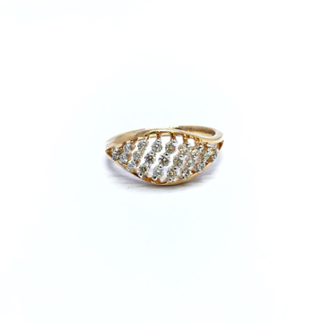 ROSE GOLD FANCY REAL DIAMOND RING