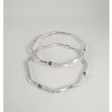 Silver Fancy Bangles. NJ-B01048