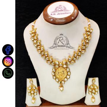 22 carat gold traditional ladies necklace set RH-LS513