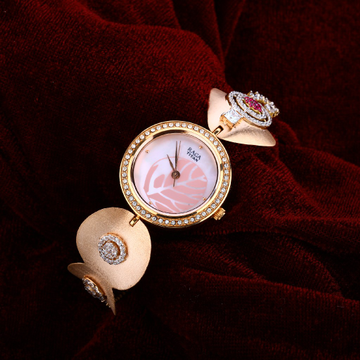 Rose Gold Ladies 18K Watch-RLW34