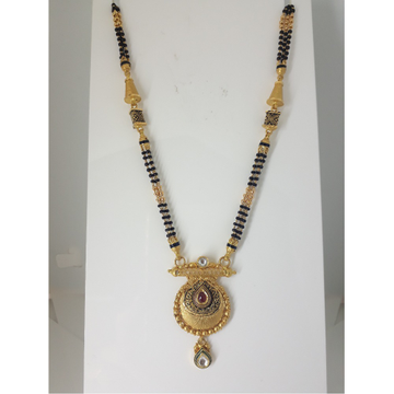 916 Gold Antique Jadtar Mangalsutra IO-A019