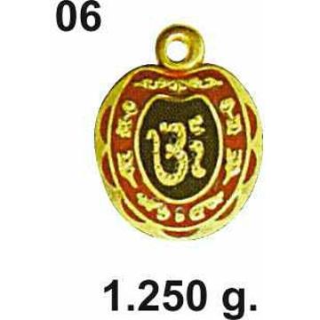 22KT Gold Om Pendant DC-P06