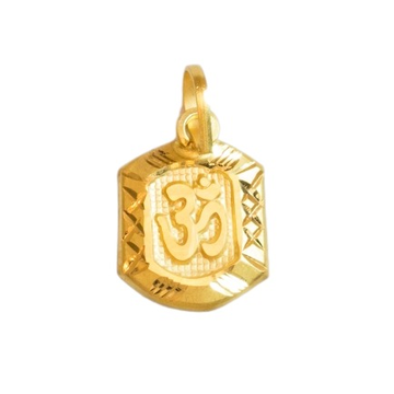 22 K GOLD OM PENDENT FOR KIDS by