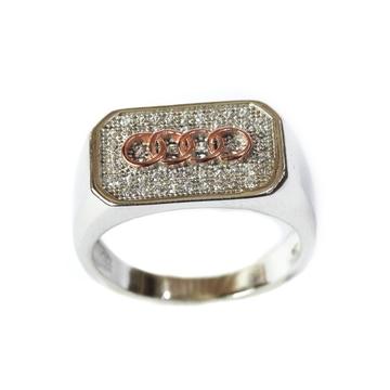 925 Sterling Silver Audi Ring MGA - SR004