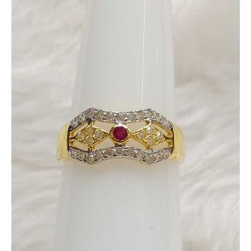 916 CZ Gold Nice Pink Stoned Ladies Ring