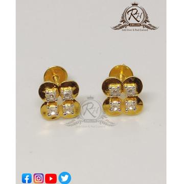 22 carat gold traditional daimond butti RH-ER636
