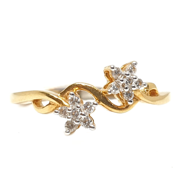 18k gold real diamond ring mga - rdr0047
